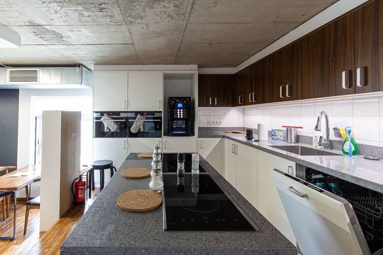 Kitchen area 24|7 europlatz karlsruhe